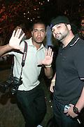 "DJ Soul and Photographer Johnny Nunez at the Alica Keys "" As I am"" celebration wrap party at Park on June 18, 2008"