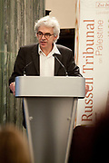 """London session of the Russel Tribunal on Palestine. """" Corporate Complicity in Israel's violations in international human rights law and international humanitarian law"""". <br /> Dr William Bourdon is giving evidence."""