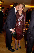 George Cadbury and Lady Eloise Anson, Burberry party to launch collection in  support of Breakthrough Breast Cancer. New Bond St. shop. Londddon. 5 October 22004. ONE TIME USE ONLY - DO NOT ARCHIVE  © Copyright Photograph by Dafydd Jones 66 Stockwell Park Rd. London SW9 0DA Tel 020 7733 0108 www.dafjones.com