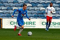 Elliot Newby. Stockport County FC 1-1 Dagenham & Redbridge. Vanarama National League. Edgeley Park. 11.5.21