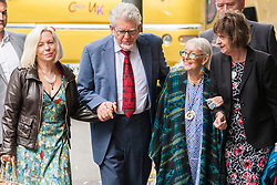 London, June 27th 2014. Rolf Harris, on trial for indecent assault against 4 girls aged between 7 and 19 arrives with his daughter Bindi, his wife Alwen and his niece Jenny, at court where the jury is beginning a 7th day in retirement.