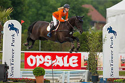 Hoogenraat Kim, (NED), Caesar<br /> Class 16 Nations Cup YR<br /> International Competition CSIO Young Riders Opglabbeek 2016<br /> © Dirk Caremans