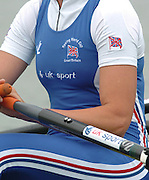 FISA World Cup Rowing Munich Germany..27/05/2004..Thursday morning opening heats...GBR W2X.Stroke Sarah Winckless and Elise Laverick [Mandatory Credit: Peter Spurrier: Intersport Images].
