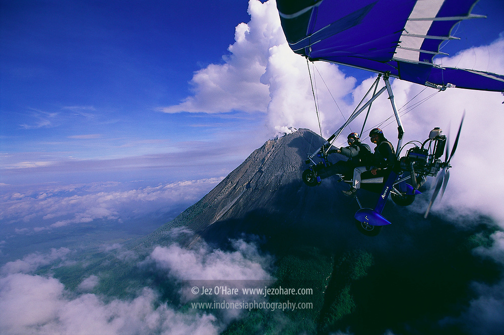 Jez O'Hare & Tantyo Bangun at Mount Merapi, Yogyakarta, Central Java, Indonesia.