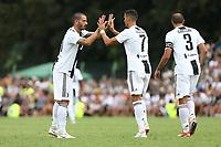 Leonardo Bonucci, Cristiano Ronaldo, Giorgio Chiellini <br /> Villar Perosa 12-08-2018 Friendly Match - Amichevole Juventus A Vs Juventus B foto OnePlusNine/Insidefoto