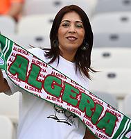 Tifosi Algeria Supporters<br /> Belo Horizonte (Brasile) 17-06-2014 Estadio Mineirao. Group H Belgium - Algeria / Belgio - Algeria Football 2014 Fifa World Cup Brazil - Campionato del Mondo di Calcio  Brasile 2014 <br /> Foto Insidefoto