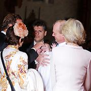 ITA/Parma/20120929- Doop prinses Luisa Irene, prins Carlos de Bourbon de Parme, met prins jaime en dochter Luisa Irene op de arm