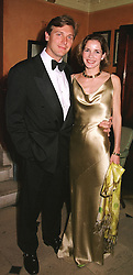 MR ANGUS FORBES and his wife ballerina DARCEY BUSSELL<br />  at a party in London on 9th May 2000.ODR 54
