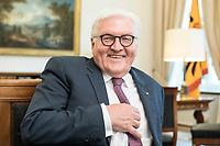 02 JUL 2018, BERLIN/GERMANY:<br /> Frank-Walter Steinmeier, Bundespraesident, waehrend einem Interview, Amtszimmer des Bundespraesidenten, Schloss Bellevue<br /> IMAGE: 20180702-01-056<br /> KEYWORDS: Bundespräsident
