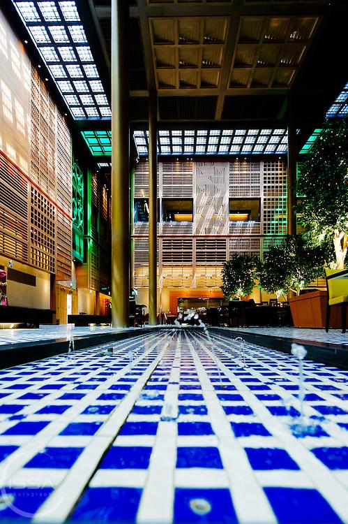 Water feature in main atrium