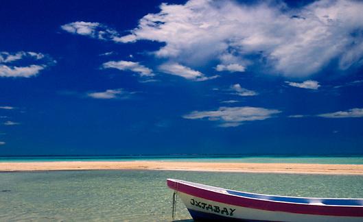 sand bar beach on Isla Mujeres in Quintana Roo Mexico
