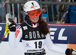 21.12.2010, Stade Emile Allais, Courchevel, FRA, FIS World Cup Ski Alpin, Ladies, Slalom, im Bild Nastasia Noens (FRA) reacts in the finish area of the FIS Alpine skiing World Cup ladies slalom race in Courchevel 1850, France. EXPA Pictures © 2010, PhotoCredit: EXPA/ M. Gunn
