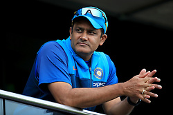 India head coach Anil Kumble before the ICC Champions Trophy, semi-final match at Edgbaston, Birmingham.
