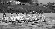 Chiswick. London.<br /> Eights starting from Mortlake<br /> Staines BC<br /> 1987 Head of the River Race over the reversed Championship Course Mortlake to Putney on the River Thames. Saturday 28.03.1987. <br /> <br /> [Mandatory Credit: Peter SPURRIER;Intersport images] 1987 Head of the River Race, London. UK
