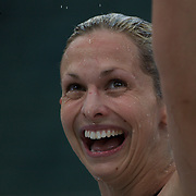 Libby Trickett after winning the women's 50m freestyle event during the Australian Swimming Championships and Selection Trials for the XIII Fina World Championships held at Sydney Olympic Park Aquatic Centre, Sydney, Australia on March 21, 2009. Photo Tim Clayton