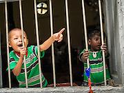 04 NOVEMBER 2014 - YANGON, MYANMAR: Children at Punja Mosque in Yangon, Myanmar.      PHOTO BY JACK KURTZ