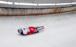 20.02.2016, Olympiaeisbahn Igls, Innsbruck, AUT, FIBT WM, Bob und Skeleton, Damen, Skeleton, 3. Lauf, im Bild Marina Gilardoni (SUI) // Marina Gilardoni of Switzerland competes during women Skeleton 3rd run of FIBT Bobsleigh and Skeleton World Championships at the Olympiaeisbahn Igls in Innsbruck, Austria on 2016/02/20. EXPA Pictures © 2016, PhotoCredit: EXPA/ Johann Groder