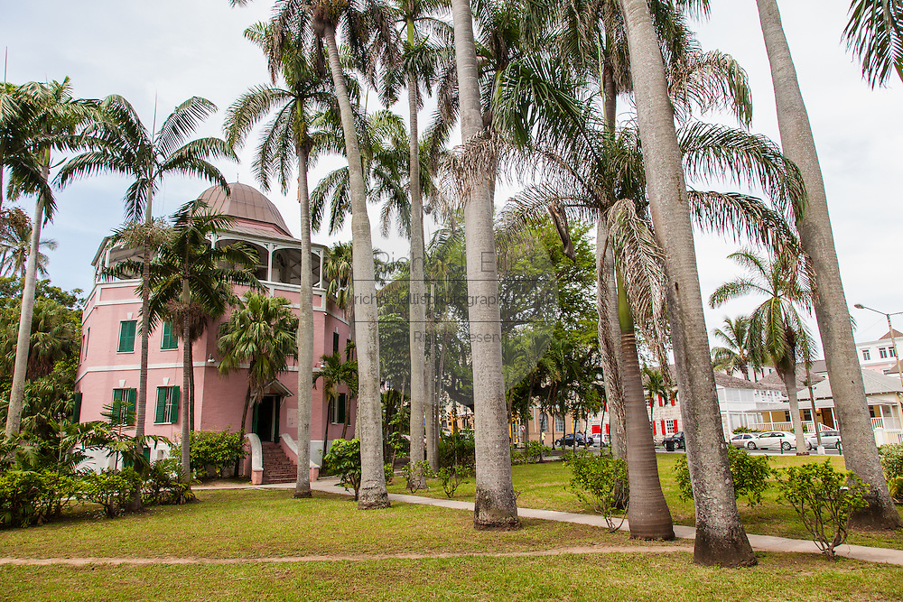 Nassau Public Library and Museum in Parliament Square Nassau, Bahamas.
