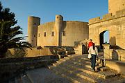 Spanien Spain,Mallorca Balearen....Palma de Mallorca....Castell de Bellver (runde mittelalterliche Burg ueber Palma)....Castell de Bellver (Castle over Palma)