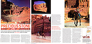 Tear sheet from TNT magazine of an article I wrote and photographed on Petra in Jordan.