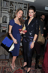Left to right, FRANCES EVANS and JOHANNA LEES at the Beulah AW13 Showcase, Bungalow 8 LFW Pop-Up at Belgraves - A Thompson Hotel, 20 Chesham Place, London SW1 on 13th February 2013.