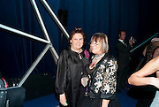 SUSY MENKES; HILARY ALEXANDER, Grey Goose character and cocktails. The Elton John Aids Foundation Winter Ball. off Nine Elms Lane. London SW8. 30 October 2010. -DO NOT ARCHIVE-© Copyright Photograph by Dafydd Jones. 248 Clapham Rd. London SW9 0PZ. Tel 0207 820 0771. www.dafjones.com.