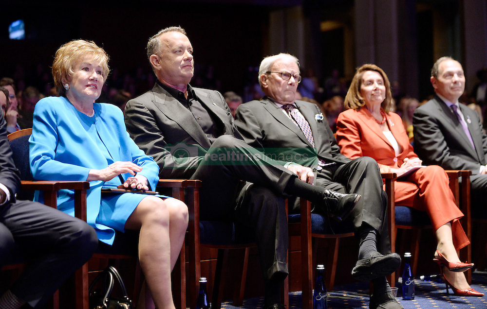 """(Lto R): , Elizabeth Dole Foundation Founder and President Elizabeth Dole , Actor and Campaign Chair Tom Hanks , journalist Tom Brokaw, House Minority Leader Nancy Pelosi and Secretary of Veterans Affairs Robert McDonald attend the launch of """"Hidden Heroes"""" campaign at the Capitol September 27, 2016 in Washington, DC.The Hidden Heroes campaign has been created to generate stronger support for America's 5.5 million military and veteran caregivers. Photo by Olivier Douliery/Abaca"""
