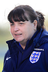 Interim England manager Mo Marley during a training session at St Georges' Park, Burton. PRESS ASSOCIATION Photo. Picture date: Tuesday October 17, 2017. See PA story SOCCER England Women. Photo credit should read: Mike Egerton/PA Wire. RESTRICTIONS: Use subject to FA restrictions. Editorial use only. Commercial use only with prior written consent of the FA. No editing except cropping.