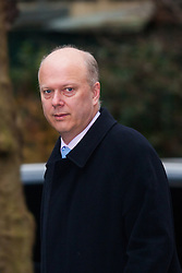 London, February 10th 2015. Ministers arrive at the weekly cabinet meeting at 10 Downing Street. PICTURED: Chris Grayling MP, Lord Chancellor and Secretary of State for Justice