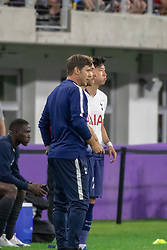 July 31, 2018 - Minneapolis, Minnesota, U.S - Tottenham manager MAURICIO POCHETTINO gives last minute instructions to CHRISTIAN ERIKSEN and SON HEUNG-MIN during the second half. (Credit Image: © Keith R. Crowley via ZUMA Wire)