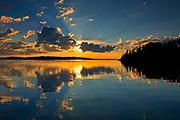 Cloud Reflection on Lac Seul<br />Ear Falls<br />Ontario<br />Canada