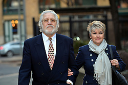 Dave Lee Travis arrives at Southwark Crown Court accompanied by his wife Marianne Griffin, London, United Kingdom. Thursday, 13th February 2014. Picture by Ben Stevens / i-Images