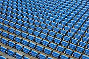 Empty stadium seating.