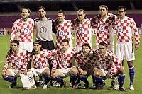 Fotball<br /> VM-kvalifisering<br /> Croatia / Kroatia v Sverige <br /> 08.10.2005<br /> Foto: Dppi/Digitalsport<br /> NORWAY ONLY<br /> <br /> CROATIA TEAM ( BACK ROW LEFT TO RIGHT : JOSIP SIMUNIC / TOMISLAV BUTINA / STJEPAN TOMAS / DADO PRSO / IGOR TUDOR / MARKO BABIC . FRONT ROW : DARIJO SRNA / NIKO KOVAC / IVAN KLASNIC / NIKO KRANJCAR / ROBERT KOVAC )