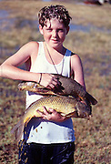 """Camron was so excited to fish.  He woke us up one morning telling us all the """"trout"""" he had caught.  Ended up they were spawning crass carp."""