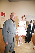 Mohamed Al Fayed, GRAYSON PERRY AND FRANCES CORNER.   London College of Fashion catwalk show. Royal Academy of Arts, 6 Burlington Gardens. London. 31 May 2007. -DO NOT ARCHIVE-© Copyright Photograph by Dafydd Jones. 248 Clapham Rd. London SW9 0PZ. Tel 0207 820 0771. www.dafjones.com.