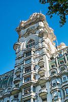BUENOS AIRES - CIRCA NOVEMBER 2012: Facade of the Palacio Barolo, Circa November 2012. The building is landmark on the city, located in Avenida de Mayo when it was built was the tallest building in city and South America.