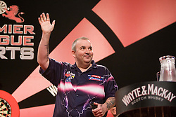 Phil Taylor arriving..2010 Whyte & MacKay Premier League Darts week nine, Glasgow SECC..©2010 Michael Schofield. All Rights Reserved.