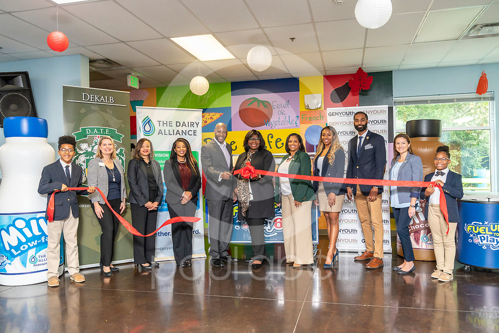 General images from GENYOUth's Legacy 53 ribbon cutting event at the DeKalb Academy of Technology and Environment school, Thursday, Nov. 7, 2019, in Stone Mountain, GA. (Paul Abell via Abell Images for GENYOUth)