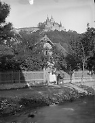 Incredible Photos Capture Everyday Life of Germany in the Early 1880s <br /> <br /> Carl Curman (1833 – 1913) was a Swedish physician and a scientist - as well as a prominent amateur photographer. He did a lot of travelling abroad in Europe, mainly to study health resorts, but also to study art and architecture. These  Incredible photos  were taken in Germany in the early 1880s when he traveled there.<br /> <br /> Photo shows: Women in Wernigerode (Wernigerode Castle on a hill in the background), 1885<br /> ©Swedish National Heritage Board/Exclusivepix Media