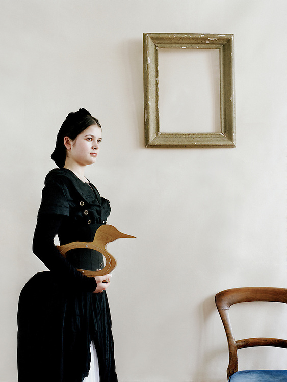 A fine art female portrait inspired by Hammershoi