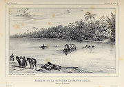 Crossing of the Santa Lucia River. Corrientes Province, Argentina [Passage de la Rivière de Santa Lucia. Province de Corrientes] From the book 'Voyage dans l'Amérique Méridionale' [Journey to South America: (Brazil, the eastern republic of Uruguay, the Argentine Republic, Patagonia, the republic of Chile, the republic of Bolivia, the republic of Peru), executed during the years 1826 - 1833] 3rd volume By: Orbigny, Alcide Dessalines d', d'Orbigny, 1802-1857; Montagne, Jean François Camille, 1784-1866; Martius, Karl Friedrich Philipp von, 1794-1868 Published Paris :Chez Pitois-Levrault et c.e ... ;1835-1847