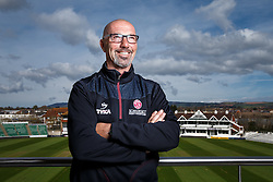 Somerset Cricket Head Coach Matt Maynard poses during a portrait session - Mandatory byline: Rogan Thomson/JMP - 08/04/2016 - CRICKET - The County Ground - Taunton, England - Somerset County Cricket Club Media Day.