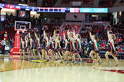 NORMAL, IL - December 16: Redline Dancers during a college basketball game between the ISU Redbirds and the Cleveland State Vikings on December 16 2018 at Redbird Arena in Normal, IL. (Photo by Alan Look)