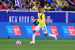 October 16, 2018 - Harrison, NJ, U.S. - HARRISON, NJ - OCTOBER 16:  Colombia midfielder Wilmar Barrios (5) during  the International Friendly Soccer Game between Colombia and Costa Rica on October 16, 2018 at Red Bull Arena in Harrison, NJ.  (Photo by Rich Graessle/Icon Sportswire) (Credit Image: © Rich Graessle/Icon SMI via ZUMA Press)