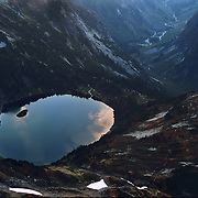Doubtful Lake high up in the Cascade Range in North Cascades National Park, WA.