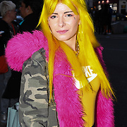 Pixie Lincoln is a Fashions Finest model attend the Fashion Scout - SS19 - London Fashion Week - Day 1, London, UK. 14 September 2018.