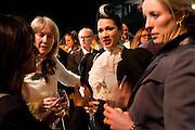 BISHI; JUSTINE SIMONS, The Unilever Series: Tacita Dean. Tate Modern. London. 10 October 2011. <br /> <br />  , -DO NOT ARCHIVE-© Copyright Photograph by Dafydd Jones. 248 Clapham Rd. London SW9 0PZ. Tel 0207 820 0771. www.dafjones.com.
