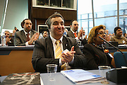 Florin Cioaba, King of the Roma. representative from Romania to Roma Travellers  Forum, Council of Europe, Strasbourg  December 2005.  An historic moment for Roma Gypsies across  Europe. The opening plenary assembly. Roma self-determination is recognized officially  at European level.