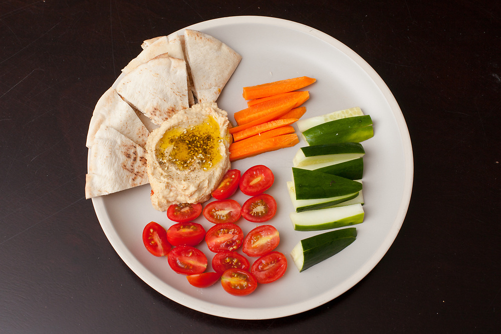 Hummus Plate from the fridge (m€) - COVID-19 Social Distancing in RI